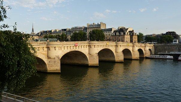 Paris, Bridge, Pont Neuf, Its, Water, France