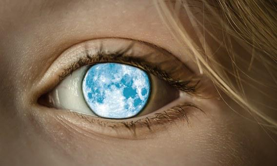 Eye, Moon, View, Look, Mystical, Sleepwalkers