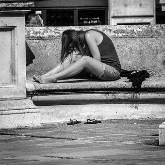 Young Woman, Paris, New Bridge, Feet