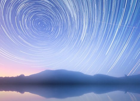 Star Trails, Star, Rotation Of The Earth, Rotation
