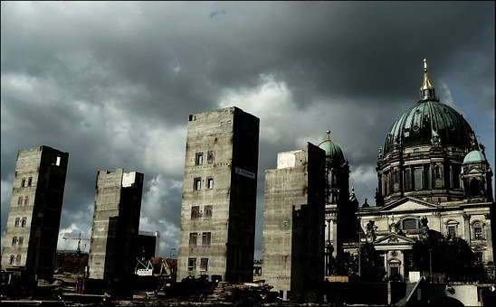Ruins, Ruin, Palace Of The Republic, Berlin