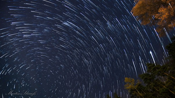 Star, Rotation, Startrails, Rotation Of The Earth, Sky