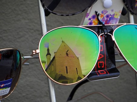 Glasses, Sunglasses, Green, Tallinn, Mirroring