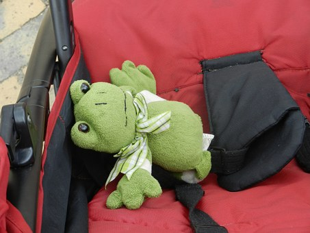 The Frog, żabka, The Mascot, Green, Child, Toy, Animals