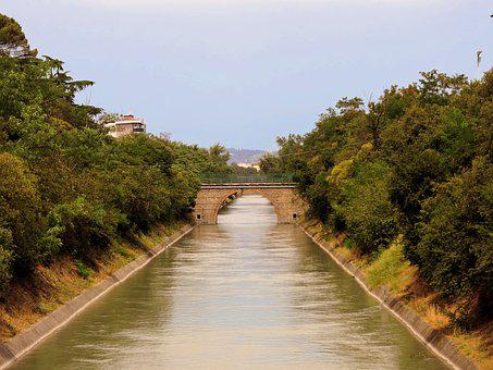 River, Channel, Water, Torrent, Riva, Shores, Trees
