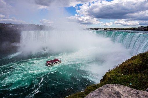 Boat, Canada, Nature, Niagara Falls, Ship, Sky, Water