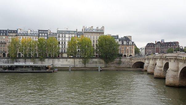 Paris, Senna, Pont Neuf, Water, Bridge, France
