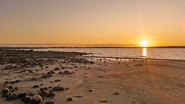 Sunset, Lake, Water, Sun, Reflection, Dusk, Setting