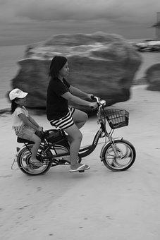 Summer, Beach, Bike, Child, Fun, Young, Generation