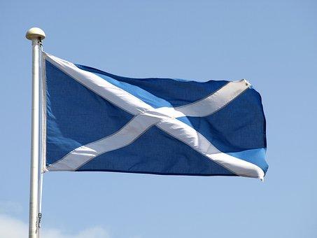 Flag, Scotland, Blue, Cross, Andreaskreuz, White