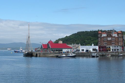 Water, Harbour City, Boats, Oban, City, Harbour, Harbor