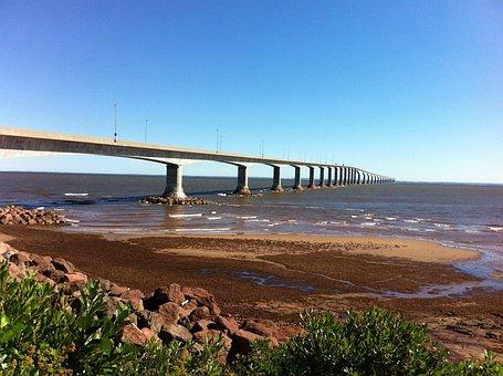 Bridge, Confederation Bridge, Pei, Ocean