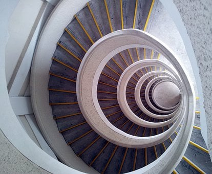 Staircase, Spiral, Tower, Building, Winding, Stairwell