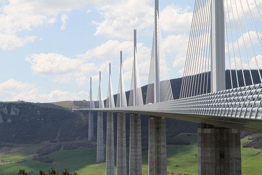 Bridge, Clouds, Design, Engineering, France