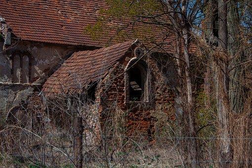 Village, Crash, House, Cottage, Old House, Destroyed