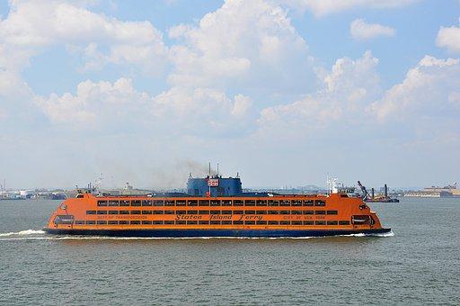 Staten, Island, Ferry, New York, Water, New York City