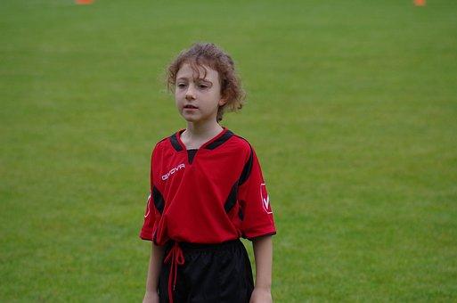 Football, Cricketer, Child, Player, Girl, Sport, Jersey