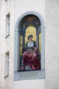 Fresco, Facade, Architecture, Building, Painting, Gaius