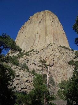 Devils Tower, National Monument, Wyoming, Mountain