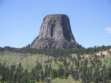 Devils Tower, Wyoming, Tower, Mountain, Nature