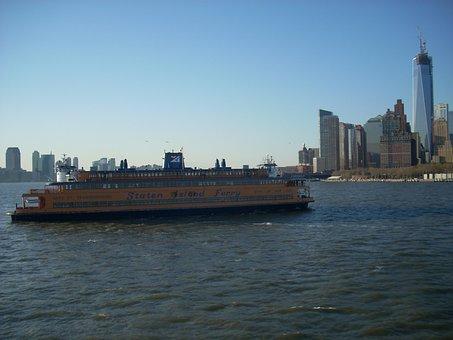 Staten Island Ferry, Ferry, New York City, Water, River
