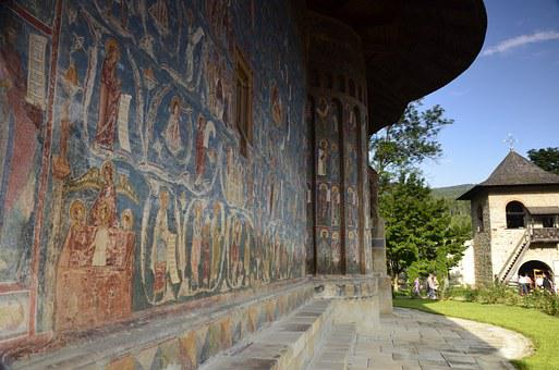 Voronet Monastery, Fresco, Church, Romania, Bukovina