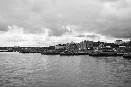 Staten Island, New York, Skyline, Ships, Port, Harbor