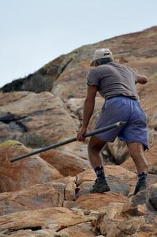 Shepherd, Man Appeal, Stick, Climbing, People, Goatherd