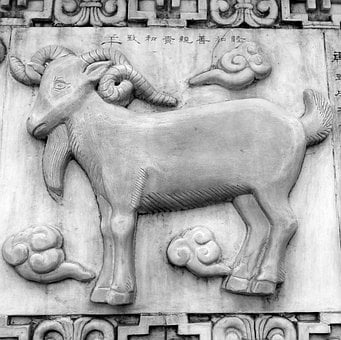 Wei, Sheep, Chinese, Symbols, China, Taoism, Asian