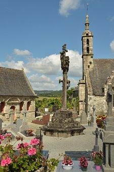 Church, Cemetery, Enclos Paroissial, Grave, Tombstone