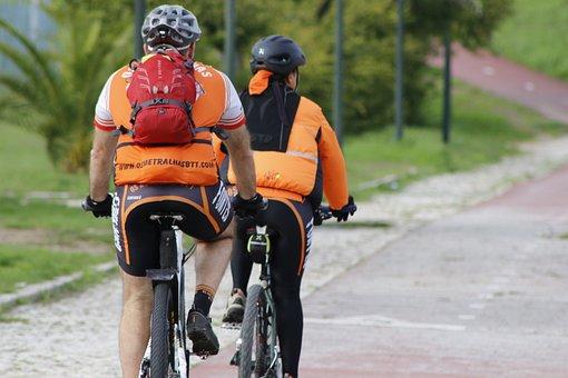 Orange, Bike, Path, Ride, Two Wheels, Attention
