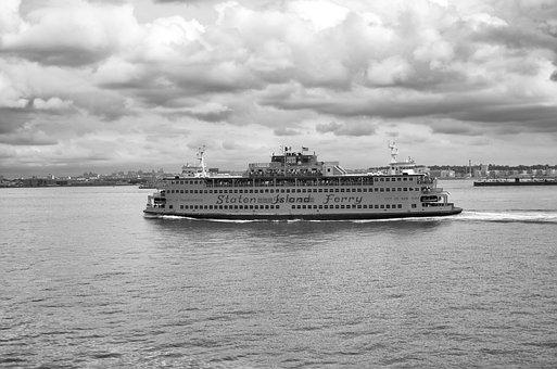 Ship, Ferry, New York, Manhattan, Water, Staten Island