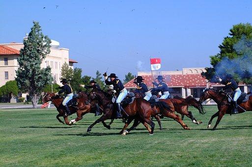 Cavalry, Army, Reenactment, Horses, Grass, Nature