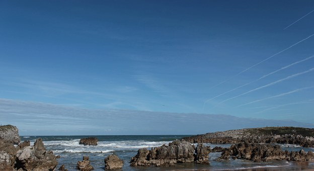 Cliff, Sea, Ocean, Landscape, Rocks, Costa