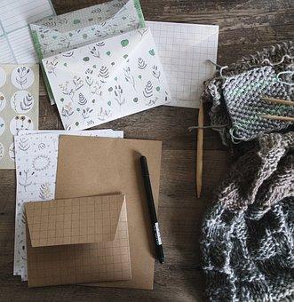 Art Materials, Crafts, Crochet, Envelopes, Knitting
