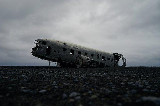 Aircraft, Fuselage, Overcast, Wreck, Wreckage