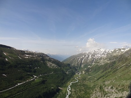 Alpine, Cyclamen, Pass Road, Grimsel, Mountains