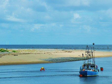Boat, Bay, Sea, Water, Landscape, Ocean, Travel, Nature