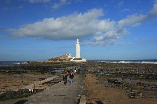 Whitley Bay Lighthouse, Coast, Lighthouse, Island