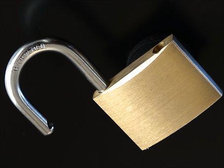 U-lock, Metal, Shiny, Unsecured, Golden, Castle