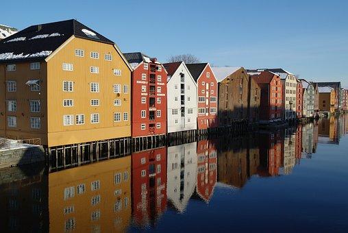 Trondheim, Warehouse, Hurtigruten, Norway, Viewing