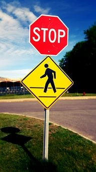 Pedestrian Crossing, Pedestrian Zone, Pedestrians