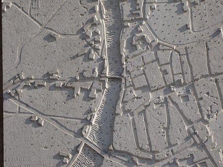Bas Relief, Map, Floorplan, River, Roads, Bassano, City