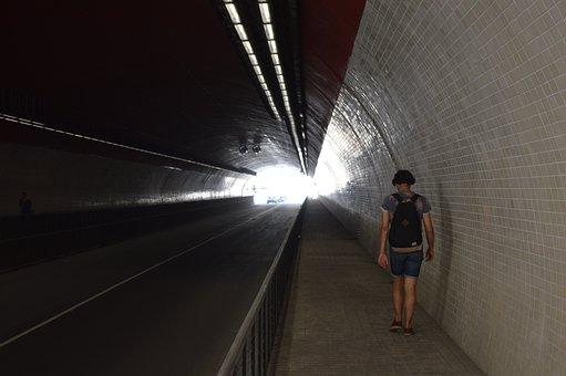 Tunnel, Leave, Track, Road, Dark, Light, Lost