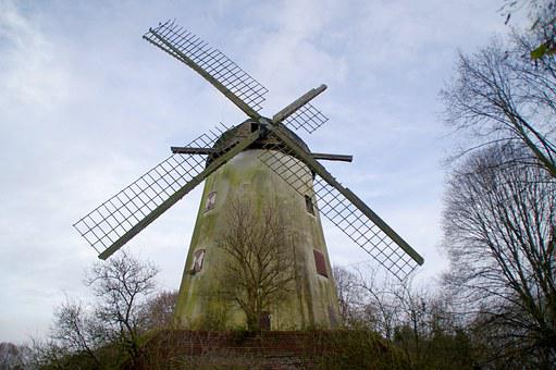 Windmill, Lost Place, Old, Ruin, Lapsed, Building