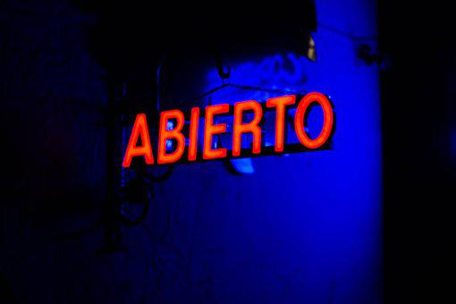 Neon Signs, Night, Nightclub, Open, Red, Sign