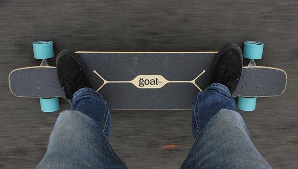 Longboard, Longboarder, Skateboard, Skateboarder, Roll