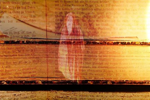 Book, Old, Spirit, Light, Font