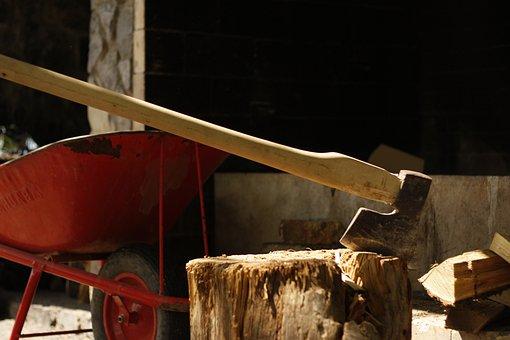 Axe, Tree, Nature, Equipment, Lumberjack, Hand