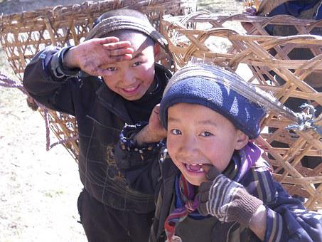 Children, Nepal, Sherpa, Trekking, Trek, Himalaya